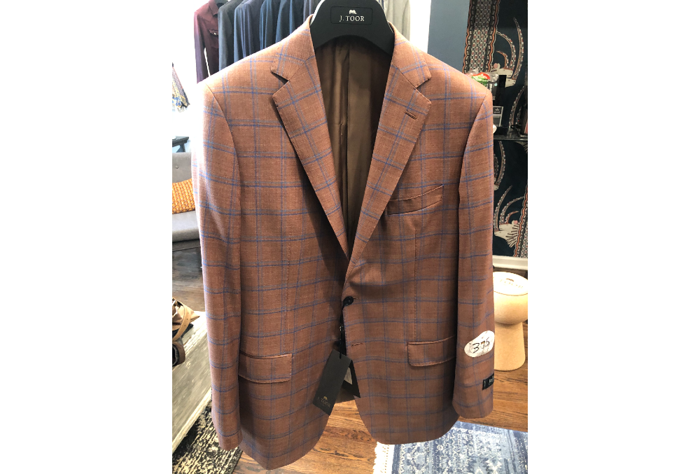 375 – CARLISLE SPORT COAT BLUE ON RUST (1)