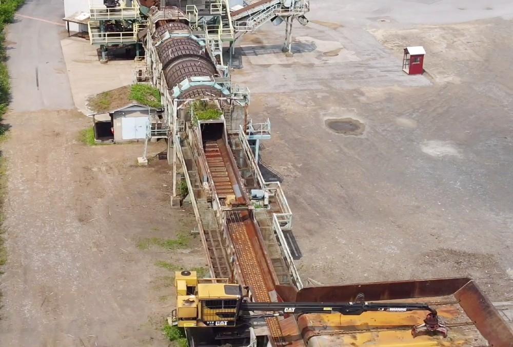 Aerial view of debarker